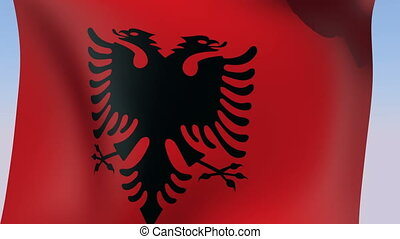 Flag of Albania - Flags of the world HD collection