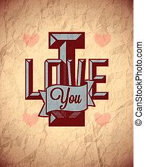 Vintage sign of love