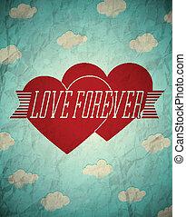 Love forever vintage card