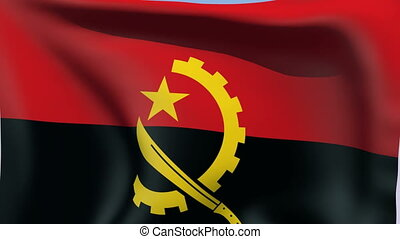 Flag of Angola - Flags of the world collection