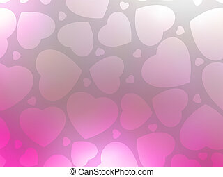Valentine hearts pink. St.Valentine's day. EPS 8 - Valentine...