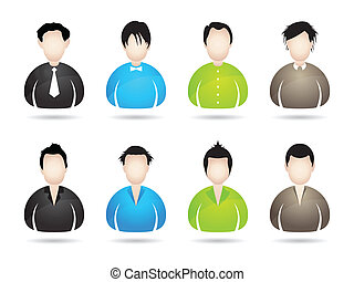 people icons with special design for your business website