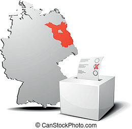 vote germany brandenburg - detailed illustration of ballot...