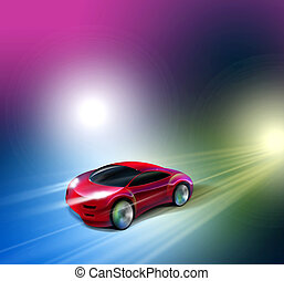 Car Illustration - 2D Car Illustration Concept Design...