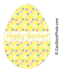 Happy Easter congratulation card - egg shaped Happy Easter...