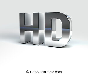 Metal Text High Definition - 3D Illustration of Metal Text...