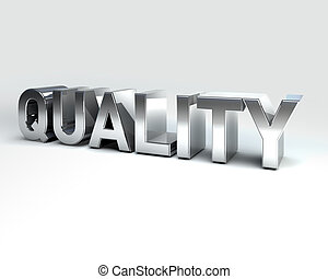 Metal Text QUALITY - 3D Illustration of Metal Text Render...