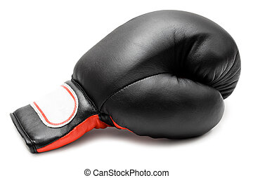 Single Boxing Glove - Mitten isolated on a white background