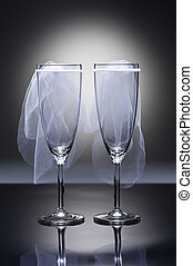 Champagne glasses Lesbian - Champagne glasses with...