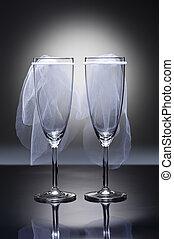 Champagne, bril, lesbische