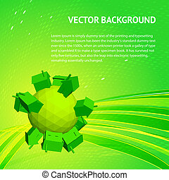 Friendly small Planet. Vector illustration, eps 10, contains...