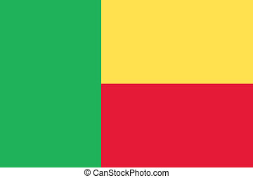 Benin flag - Vector Republic of Benin flag