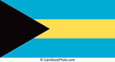 Bahamas flag - Vector Commonwealth of the Bahamas flag