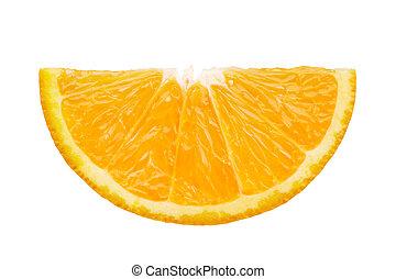 slice of orange - front view of orange slice isolated on...
