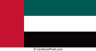 United Arab Emirates flag - Vector United Arab Emirates flag