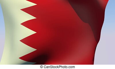 Flag of Bahrain - Flags of the world collection