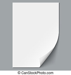 Empty paper sheet Vector EPS10