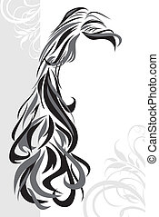 Abstract hairstyle background. Vector illustration