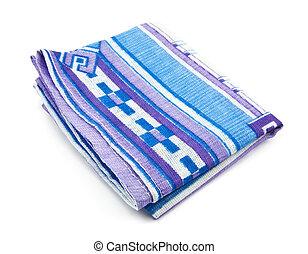 Blue handkerchief on white background