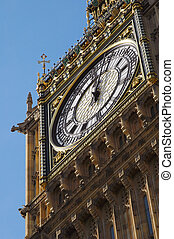 big ben - close-up of the historic Big Ben clock tower in...