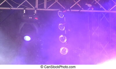 Outdoor show effects - Lights and smoke effects on outdoor...
