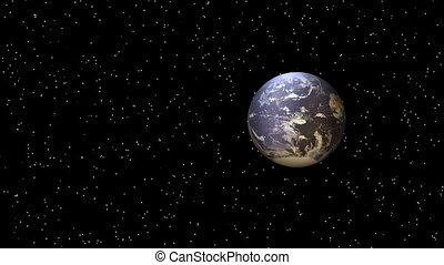 Earth - Animation on Space - Earth