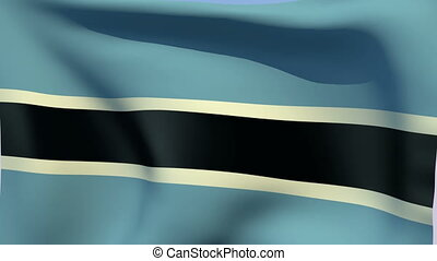 Flag of Botswana - Flags of the world collection