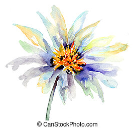 The Bud of flower, Watercolor painting