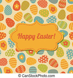 Easter Greeting Card Design - Retro style design for Easter...