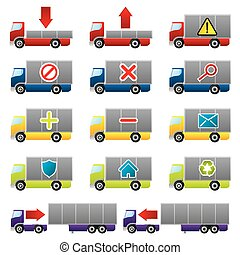 Truck icons for the web - Various truck icon set for the web...