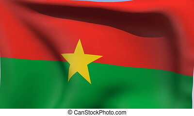 Flag of Burkina Faso - Flags of the world collection