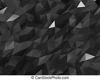 Abstract Crystal Structure Background - Abstract Black...