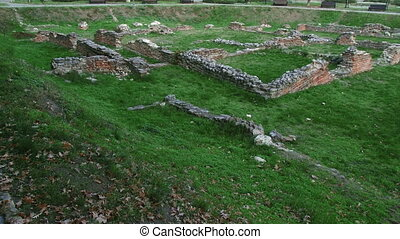 Sirmium, Roman Empire, grain square, remains
