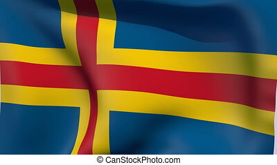 Flag of Aland - Flags of the world collection
