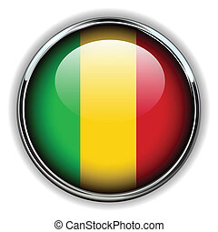 Mali button - Republic of Mali flag button