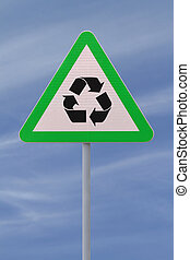 Go Green - An actual road sign modified into an...