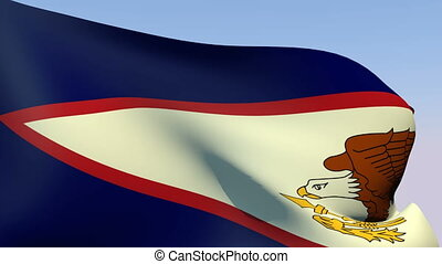 Flag of American Samoa - Flags of the world collection