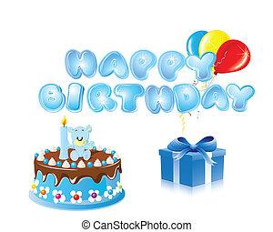 Happy birthday vector backround