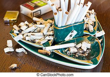 cigarett, askkopp, Fimpar