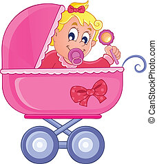 Baby carriage theme image 4 - vector illustration