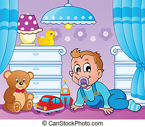 Baby room theme image 2 - vector illustration.