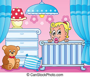 Baby room theme image 1 - vector illustration.