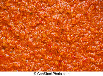 Bolognaise sauce - Texture of some bolognaise sauce with...