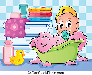 Baby room theme image 4 - vector illustration
