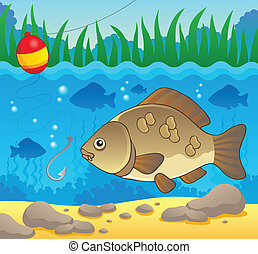 Freshwater fish theme image 2 - vector illustration.