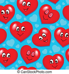 Seamless background with hearts 7
