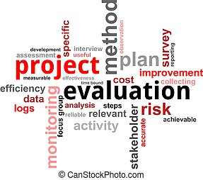 word cloud - project evaluation - A word cloud of project...