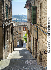 Street of Montecassiano (Macerata)