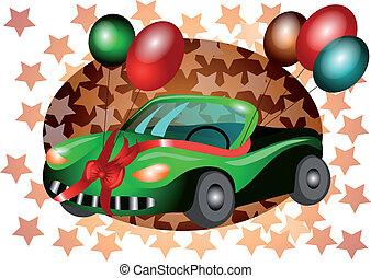 festive car