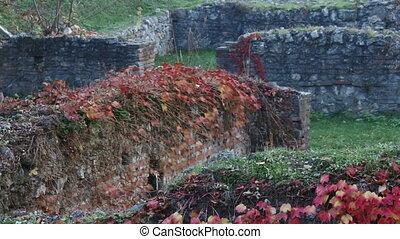 Sirmium, Roman, Imperial house walls, ruins